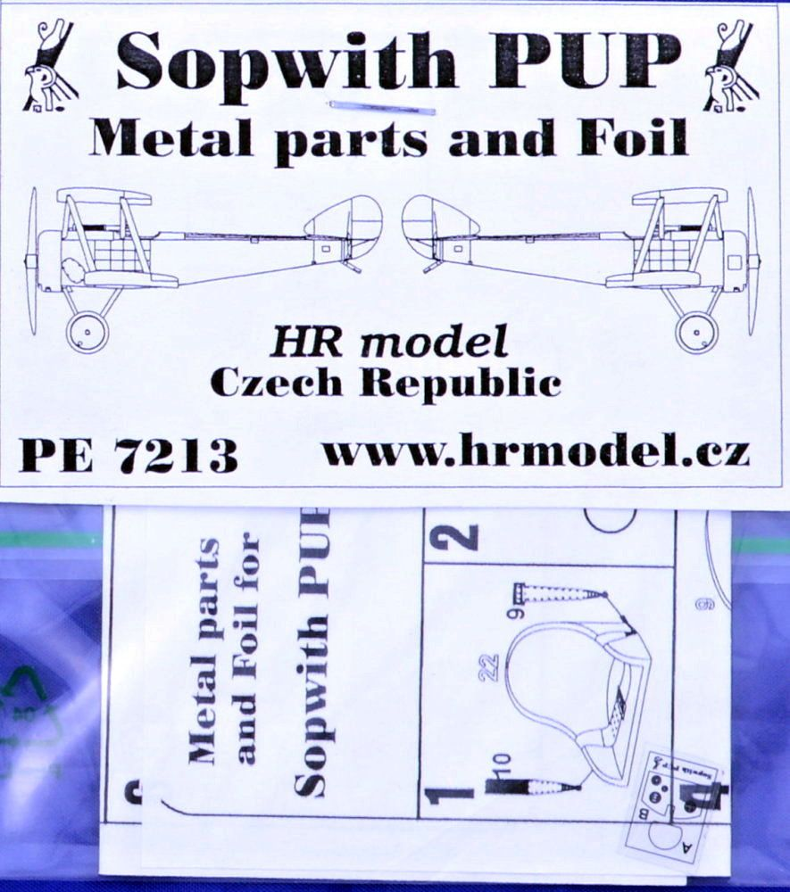 HR Model 1/72 Photo-Etched for Sopwith PUP # PE7213