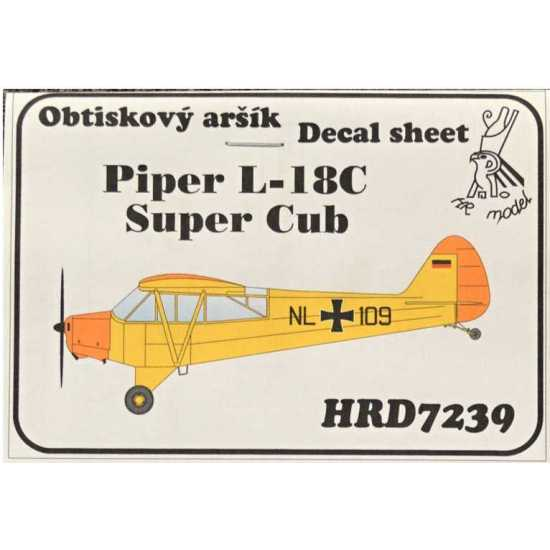 HR Model Decals 1/72 Piper L-18C Super Cub (Germany) # HRD7239