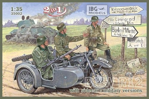 IBG 1/35 BMW R12 with Sidecar - Military Versions (2 in 1) # 35002