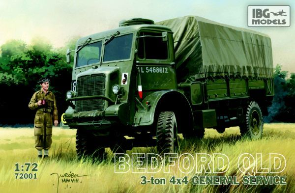 IBG 1/72 Bedford QLD 4x4 General Truck # 72001