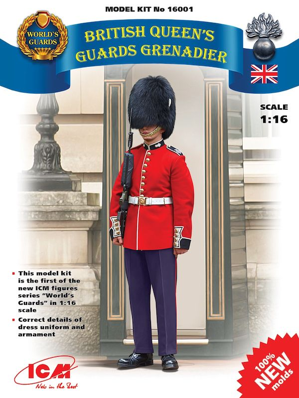 ICM 1/16 British Queen's Guards Grenadier # 16001