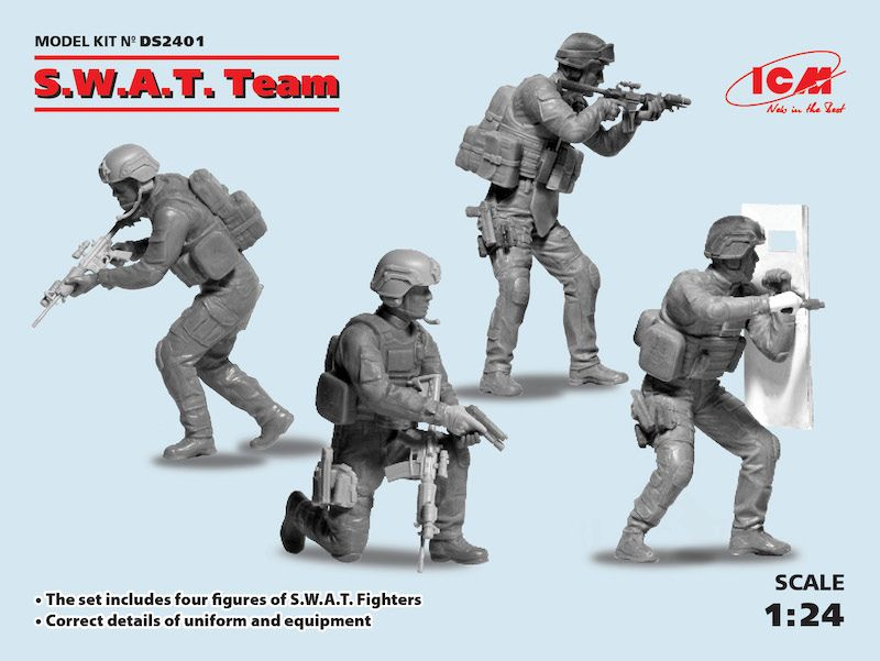 ICM 1/24 S.W.A.T. Team # DS2401