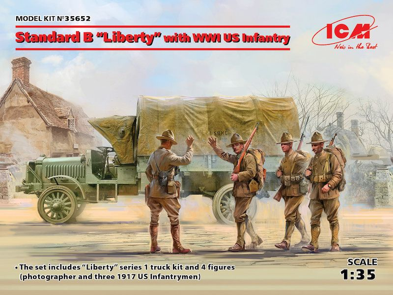 "ICM 1/35 Standard B ""Liberty"" with WWI US Infantry # 35652"
