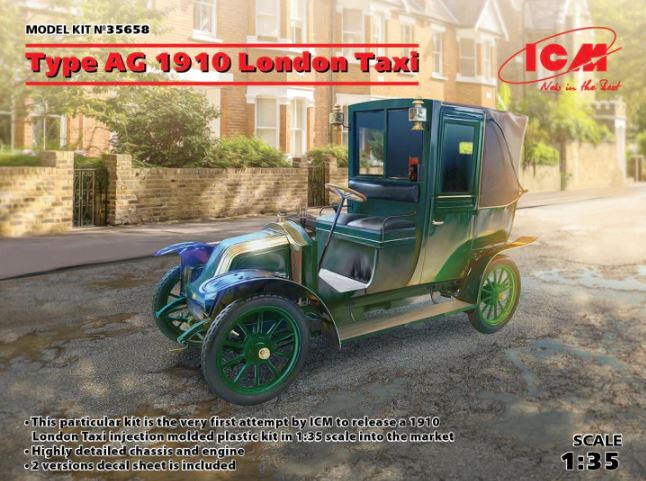 ICM 1/35 Type AG 1910 London Taxi # 35658