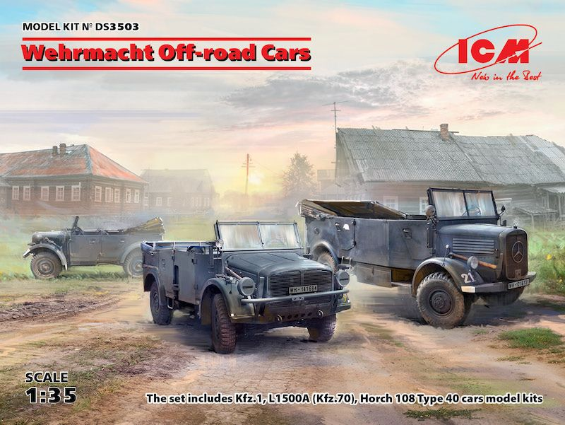 ICM 1/35 Wehrmacht Off-Road Cars # DS3503