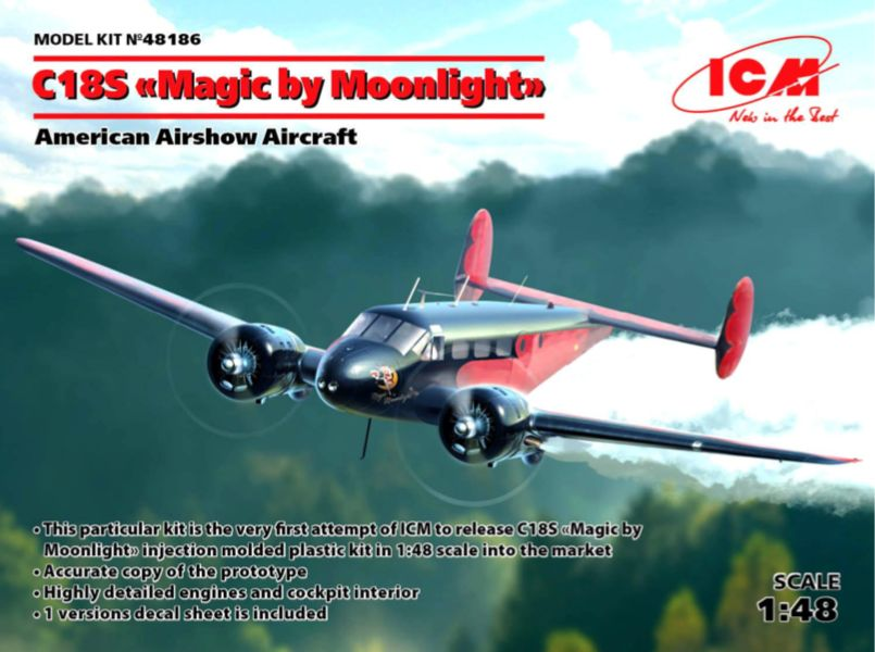"ICM 1/48 Beech C18S ""Magic by Moonlight"" # 48186"