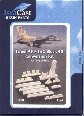 IsraDecal Studio 1/32 IAF Lockheed-Martin F-16C Block 40 conversion # 32001