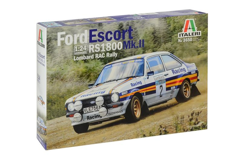 Italeri 1/24 Ford Escort RS 1800 Mk.II Lombard RAC Rally # 3650