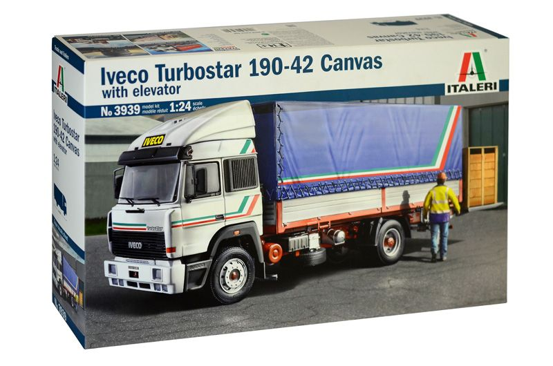 Italeri 1/24 Iveco Turbostar 190-42 Canvas with Elevator # 3939