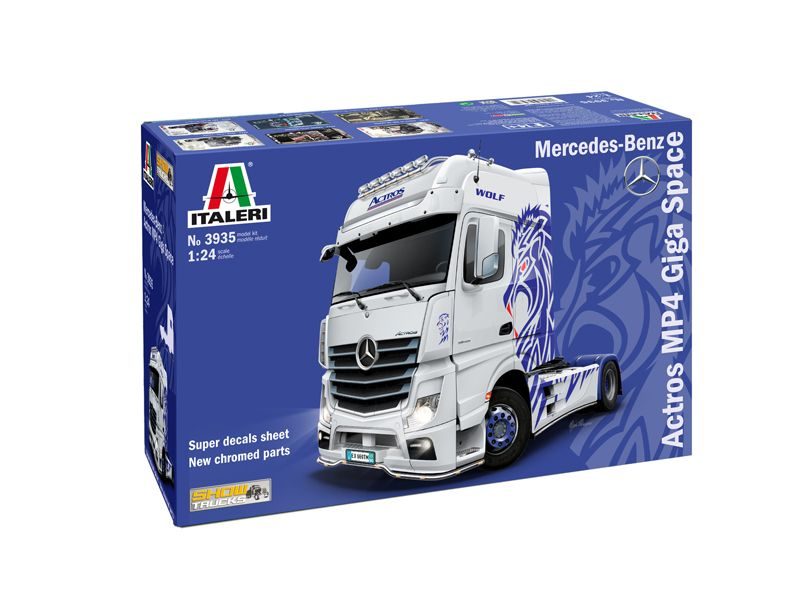 Italeri 1/24 Mercedes-Benz Actros MP4 Giga Space # 3935