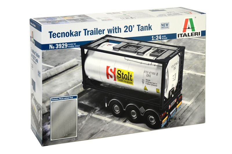 Italeri 1/24 Tecokar Trailer with 20' Tank # 3929
