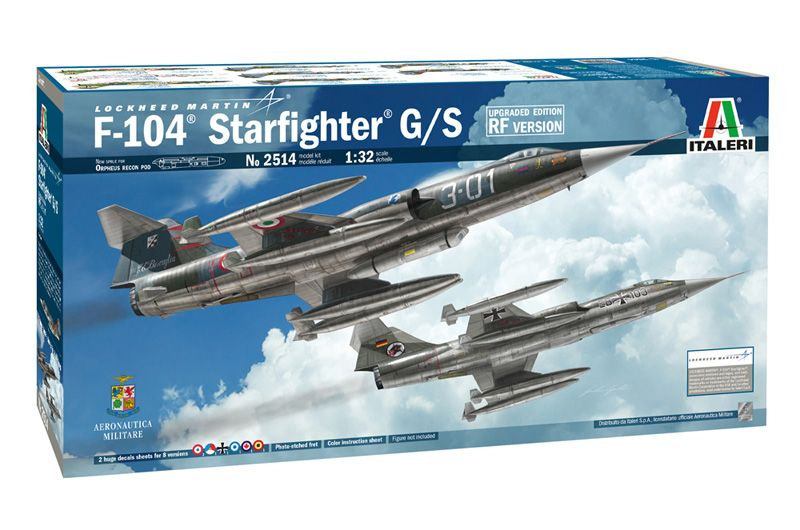 Italeri 1/32 Lockheed-Martin F-104 Starfighter G/S RF Upgraded Edition # 2514