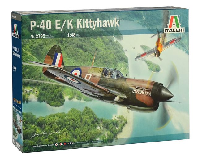Italeri 1/48 Curtiss P-40E/K Kittyhawk # 2795