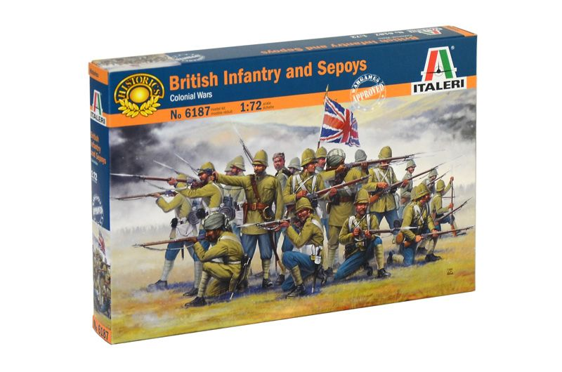 Italeri 1/72 British Infantry and Sepoys (Colonial Wars) # 6187