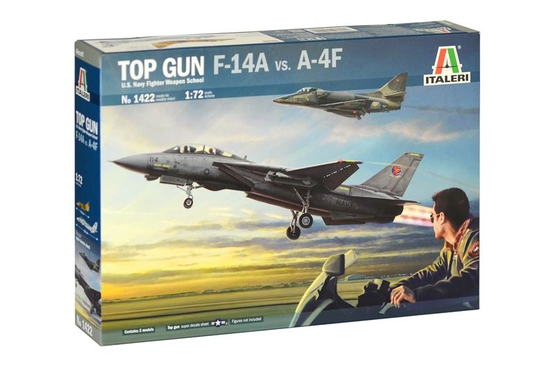 Italeri 1/72 F-14A vs. A-4F Top Gun U.S. Navy Fighter Weapons School # 1422