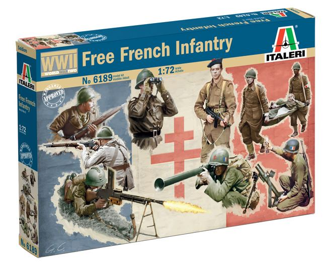 Italeri 1/72 Free French Infantry # 6189