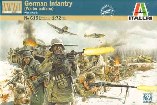 Italeri 1/72 German Infantry WWII (Winter Uniform) # 6151
