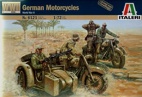 Italeri 1/72 German Motorcycles WWII # 6121