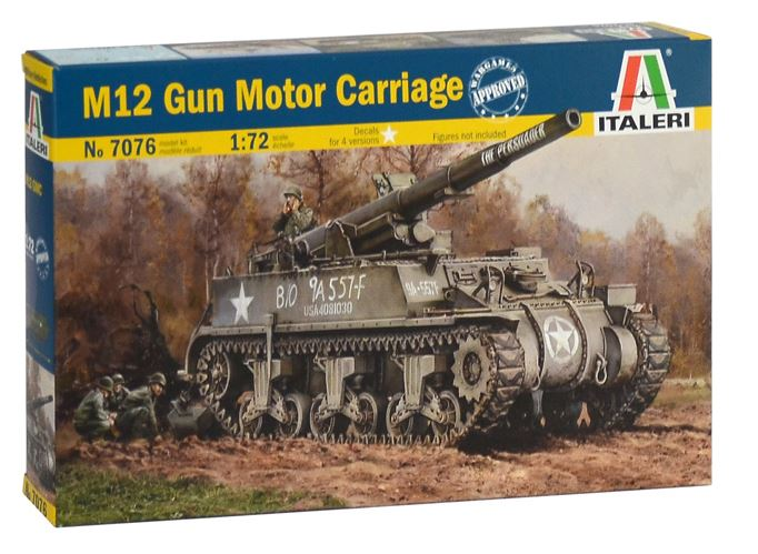 Italeri 1/72 M12 Gun Motor Carriage # 7076
