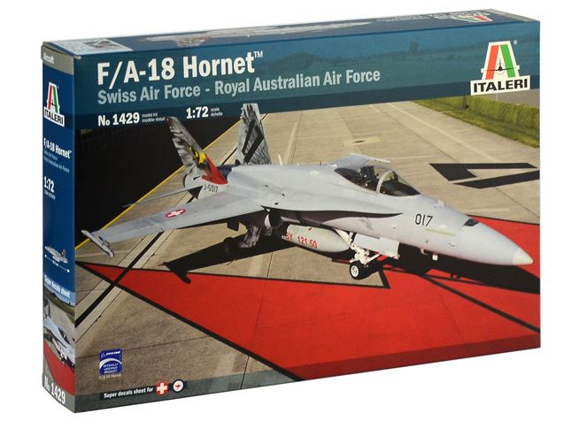 Italeri 1/72 McDonnell-Douglas F/A-18 Hornet (Swiss Air Force - Royal Australian Air Force) # 1429