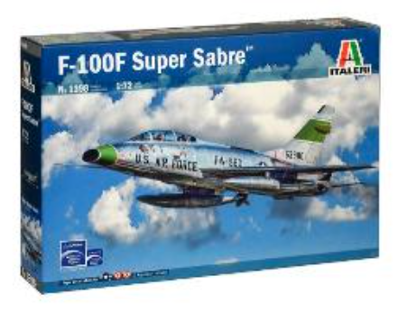 Italeri 1/72 North-American F-100F Super Sabre # 1398