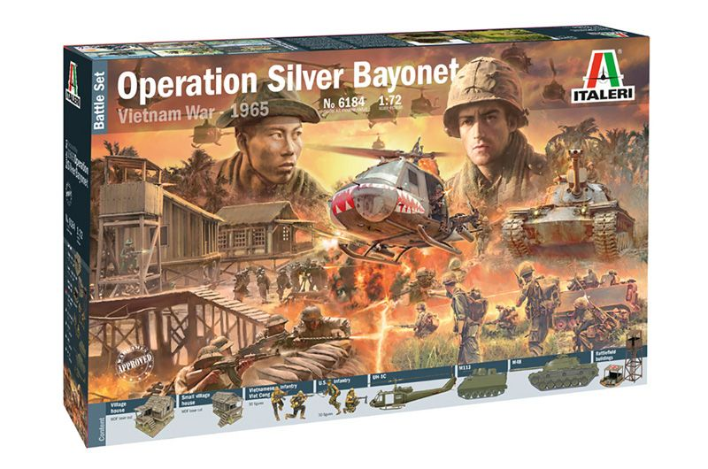 Italeri 1/72 Operation Silver Bayonet Vietnam War - 1965 Battle Set # 6184