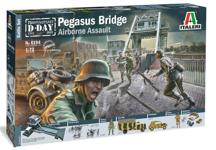 Italeri 1/72 Pegasus Bridge Airborne Assault 75th Anniversary D-Day 1944-2019 Battle Set # 6194