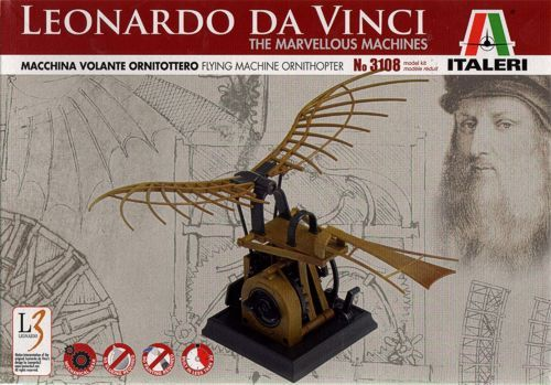 Italeri Leonardo Da Vinci Flying Machine Ornithopter # 3108