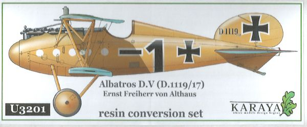 Karaya 1/32 Albatros D.V (D.1119/17) Ernst Freiherr von Althaus Resin Conversion Set # U3201