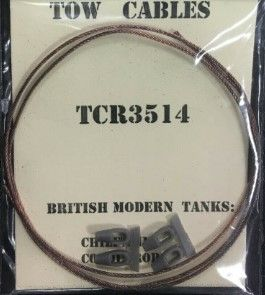 Karaya 1/35 British Chieftain/Conqueror Tanks Tow Cable # TCR3514