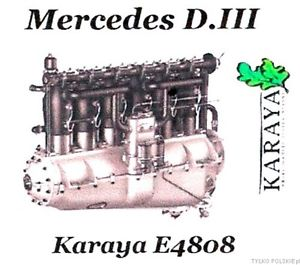Karaya 1/48 Mercedes D.III Resin Engine # E4808