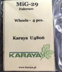 Karaya 1/48 Mikoyan MiG-29A/AS/UB Wheels # U4806