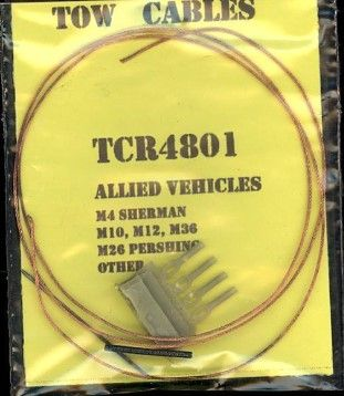 Karaya 1/48 Tow Cables for Allied Vehicles # TCR4801