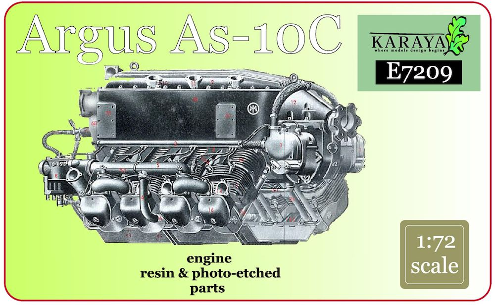 Karaya 1/72 Argus As-10C Resin Engine # E7209