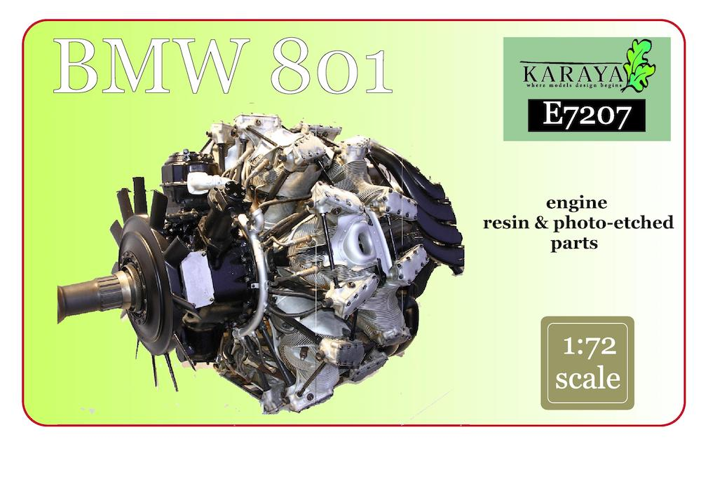 Karaya 1/72 BMW 801 Resin Engine # E7207