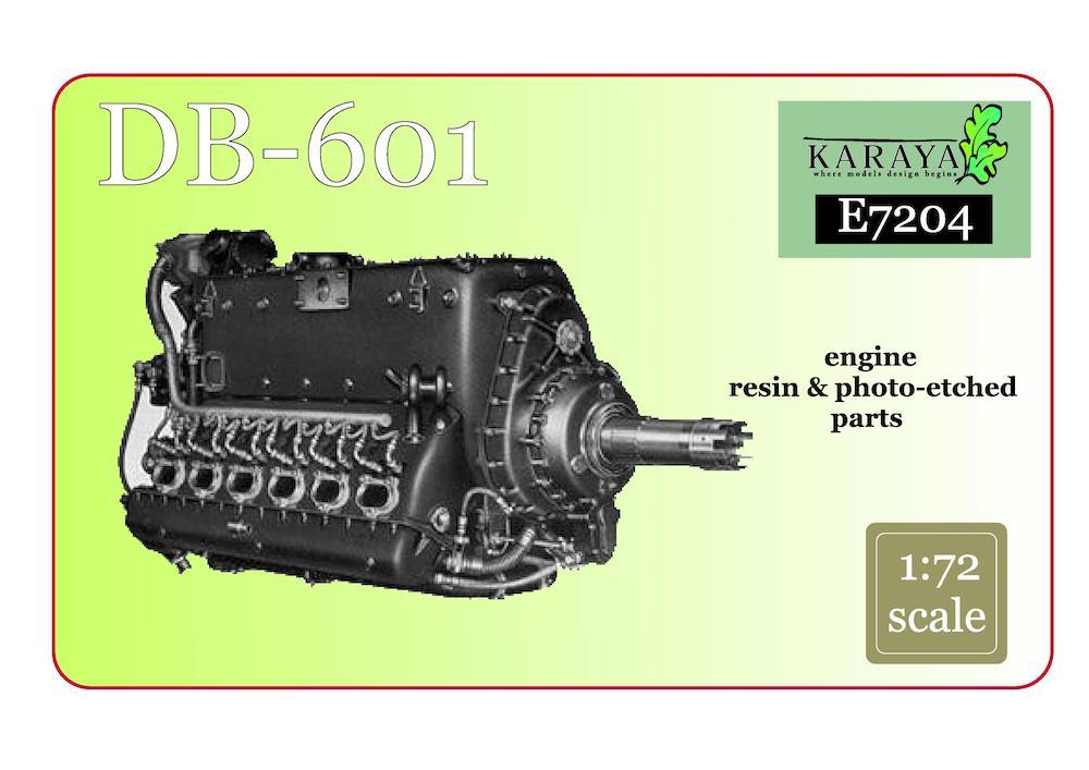 Karaya 1/72 Daimler-Benz DB-601 Resin Engine # E7204