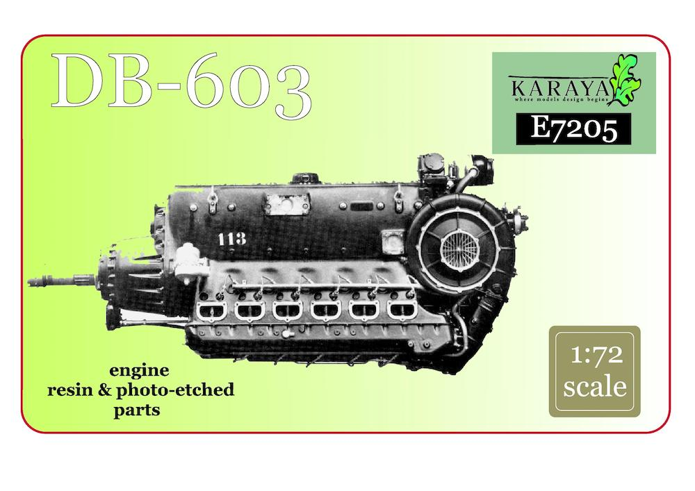 Karaya 1/72 Daimler-Benz DB-603 Resin Engine # E7205