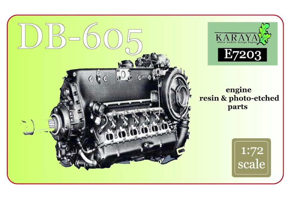 Karaya 1/72 Daimler-Benz DB-605 Resin Engine # E7203