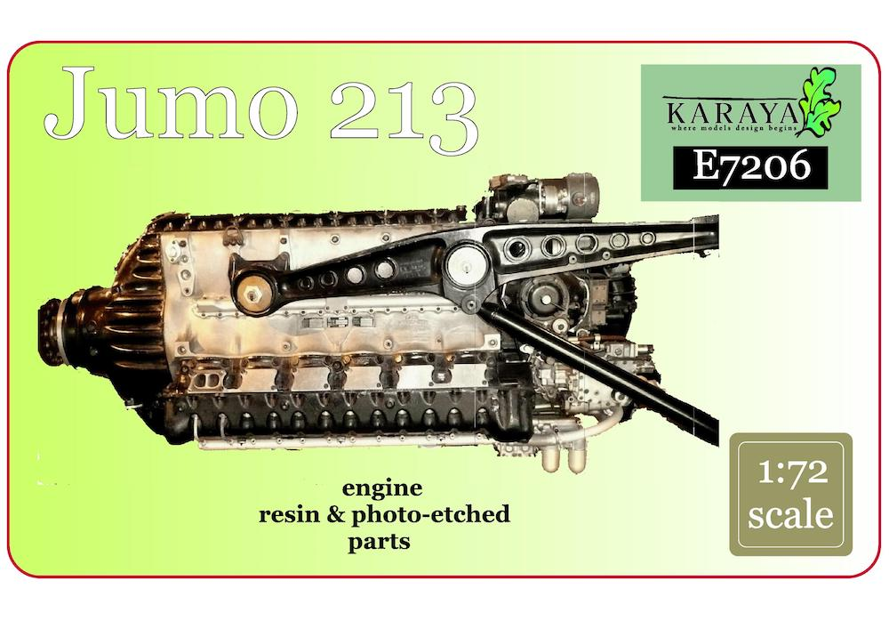 Karaya 1/72 Jumo 213 Resin Engine # E7206