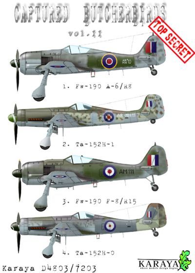 Karaya Decals 1/72 Captured Butcher Birds Vol. II # D7203