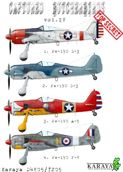 Karaya Decals 1/72 Captured Butcher Birds Vol. IV # D7205