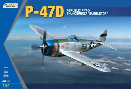 Kinetic 1/24 Republic P-47D Thunderbolt Bubble Top # 3207