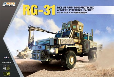 Kinetic 1/35 RG-31 MK5 US Army Mine-Protected Armored Personnel Carrier # K61015