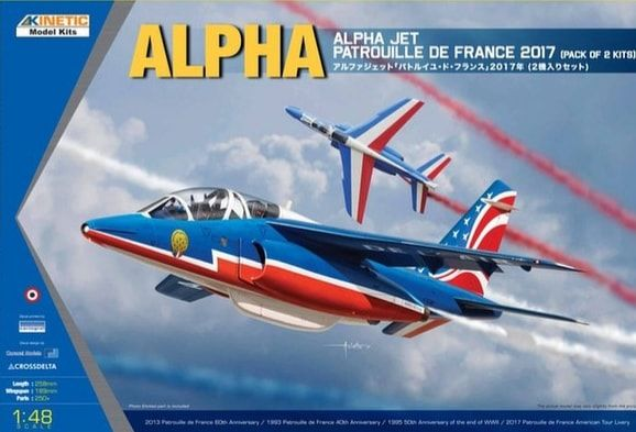 Kinetic 1/48 Dassault-Dornier Alpha Jet Patrouille de France 2017 (pack of 2 kits) # 48064