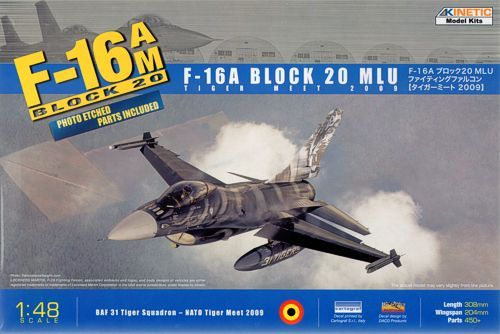 Kinetic 1/48 F-16A Block 20 MLU Tiger Meet 2009 # 48036