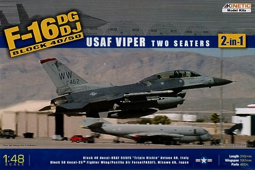 Kinetic 1/48 F-16DG/DJ Block 40/50 USAF Viper # 48005