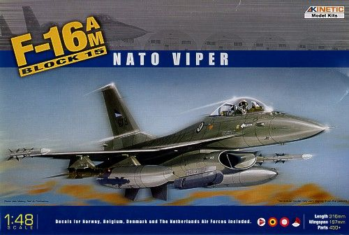 Kinetic 1/48 General-Dynamics F-16A/F-16B 'NATO Falcon' # 48002