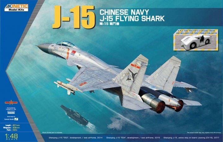 Kinetic 1/48 J-15 Chinese Navy Flying Shark # 48065