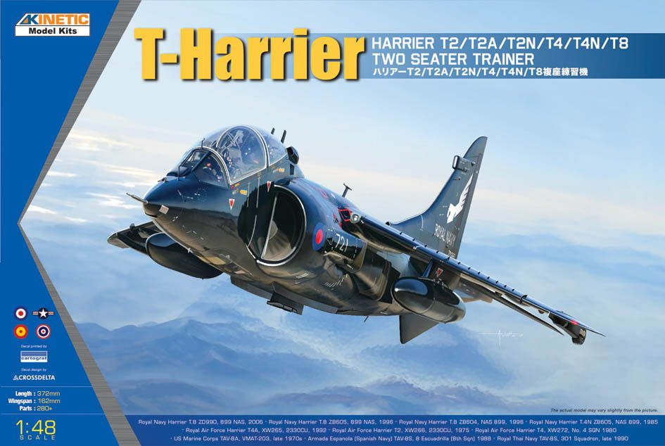 Kinetic 1/48 T-Harrier T2/T2A/T2N/T4/T4N/T8 Two Seater Trainer # 48040