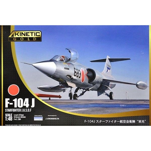 Kinetic Gold 1/48 Lockheed F-104J J.A.S.D.F. Starfighter # 48080